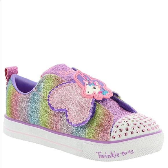 26077927fd5e Unicorn Twinkle Toes Toddler Sneaker. M 5bb9e12bde6f62f75cfdd612